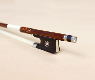 Parisian Eyes Ebony Frog Violin Bow 4/4 Size Silver Mounted Good Response