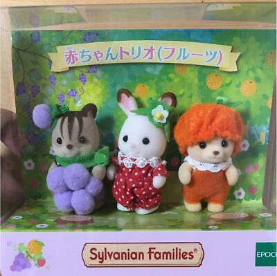 Sylvanian Families Baby Trio Fruit motif fan club Calico Critters Official Gif