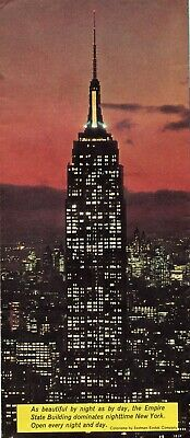 """Vintage Beautiful Empire State Building Brochure """"Tallest Building Built by Man"""""""