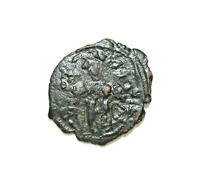 Byzantine Empire, Bronze Follis. Constans Ii, 641-668 Ad. Costantinople
