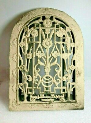 Antique Vintage Cast Iron Arch Heat Vent Grate Victorian House Church Register