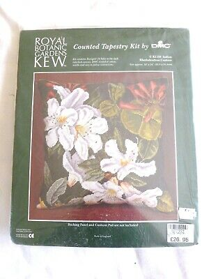 New Counted tapestry kit by DMC Royal Botanic Gardens Kew Indian Rhodedendron