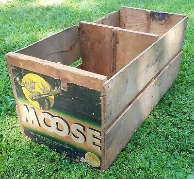 Antique Wooden Moose Brand Sunkist Orange Crate Upland CA  LOCAL PICK UP ONLY