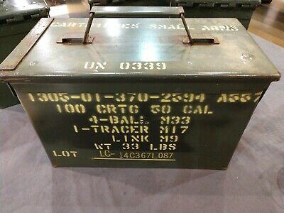 50 Cal Ammo Can Military M2A1 Labelled 100 CRT 50cal (Patina Finish)