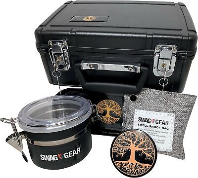 Large Stash Box Combo with Lock - Locking Smell Proof Case with Grinder Stash...