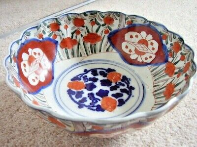 Antique Japanese IMARI porcelain large bowl,19th Century
