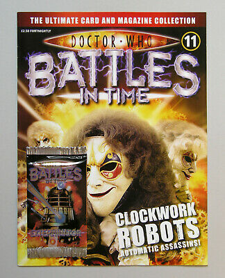Dr DOCTOR WHO BATTLES IN TIME Magazine Issue #11 + EXTERMINATOR CARDS PACK 2007