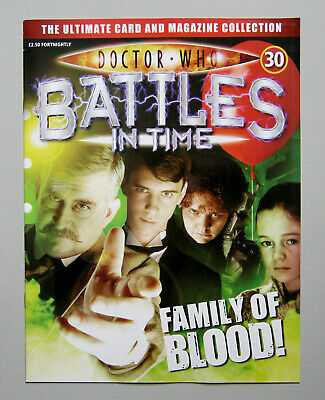 Dr DOCTOR WHO BATTLES IN TIME Magazine Issue #30 FAMILY OF BLOOD 2007