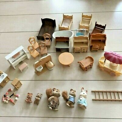 Sylvanian Families Vintage Calico Critters Epoch Furniture And Accessories Lot