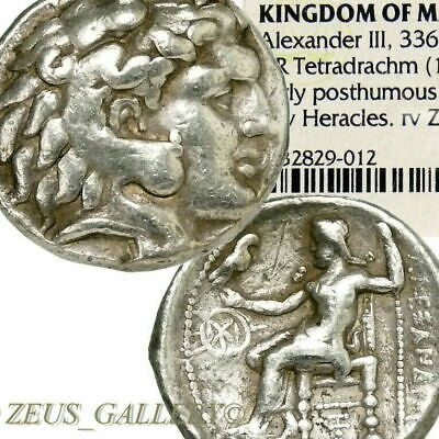 ALEXANDER the GREAT Tetradrachm NGC Certified Ancient Greek Silver Coin Herakles