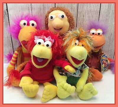 """Fraggle Rock Plush Keychains Gobo Fraggle And Red Fraggle 4"""""""