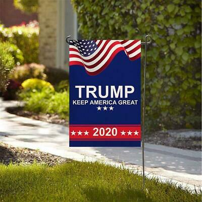 American President Donald Trump Flag Double Sided US Election Outdoor Banner
