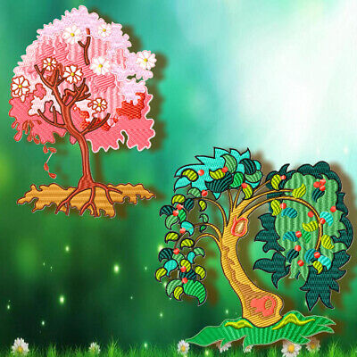 QUIRKY TREES  10 MACHINE EMBROIDERY DESIGNS CD or USB