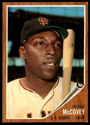 1962 Topps #544 Willie McCovey Ex-Mint SP Giants High #