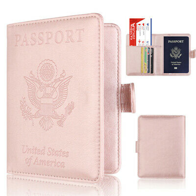 Passport Cover Card Case Women Men US Travel Document Cover SIM Passport Holder