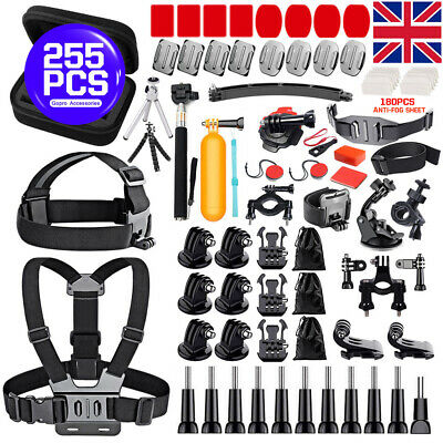 255PCS For GoPro Hero 7 6 5 Accessories Kit Action Camera Mount Accessory Bundle
