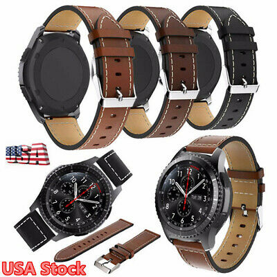 For Samsung Gear S3 Frontier Watch Genuine Leather Watch Band Strap Wristband US