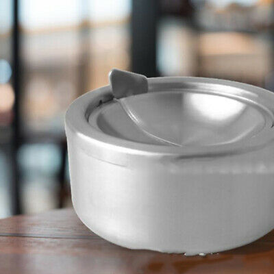 Stainless Steel Windproof Round Shape Smoking Ashtray Rotation With Lid LA