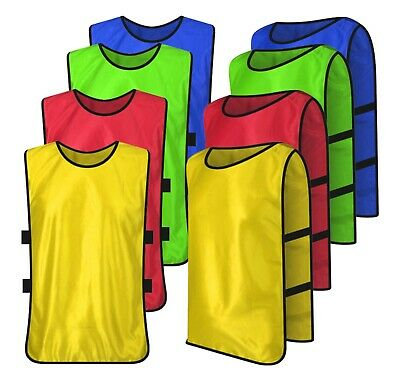 Football Bibs Training Sports Mesh Vests Hockey Volleyball Rugby Adult/Kids Size