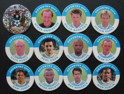 Super Gift ORIGINAL Merlin Premier 95 ⚽ COVENTRY CITY  ⚽ FOOTBALL POGS Full Team