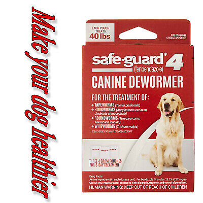 8 in 1 Safe-guard 4 Canine Dewormer for Large Dogs 3-Day Treatment