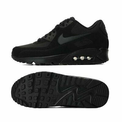 AIR MAX 90 Mens / Womens Trainers BLACK classic sneaker Running Shoes