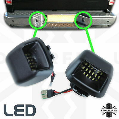 2xLED Rear bumper License number plate lights for Nissan Navara D40 lamp bulb