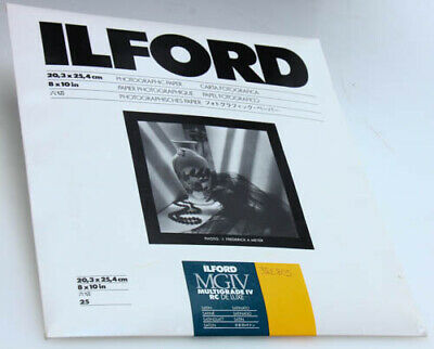 Ilford MGIV Multigrade IV RC Deluxe Satin Photo Paper 8x10 25 Sheets 382805