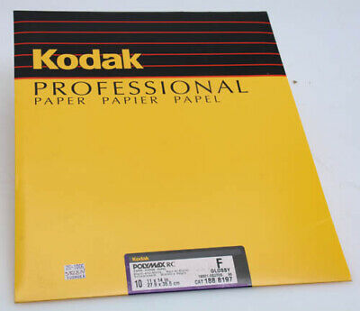Kodak Polymax RC b+w 10 sheet 11 x 14 F Glossy sealed photo paper 382814