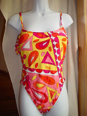 Victorias Secret Vintage Miracle One Piece 36C Yellow/Orange/Red NWOT