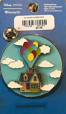 Disney Pixar Loungefly Boxlunch UP! Carl Ellie Balloon House 3D Pin on Pin