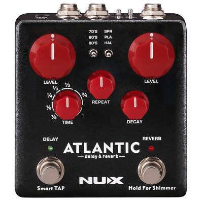 NUX Atlantic Multi Delay and Reverb Effect Pedal with Inside Routing and Reverb