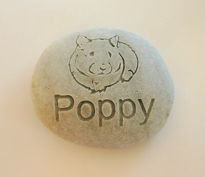 Hamster Pet Memorial Custom Engraved Memorial Stone Pet Loss Personalized