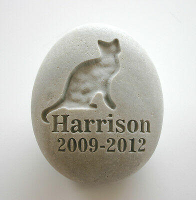 Cat Pet Memorial Custom Engraved Memorial Stone Pet Loss Personalised Kitty