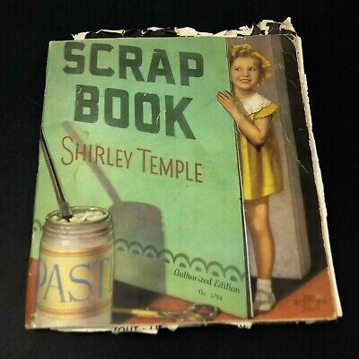 Vintage Shirley Temple Scrap Book #1714 Newspaper Magazine Clippings 1930's