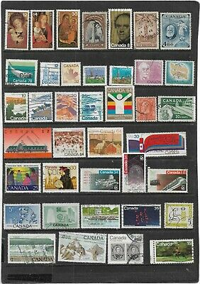 Canada Used Collection Of All Different Stamps