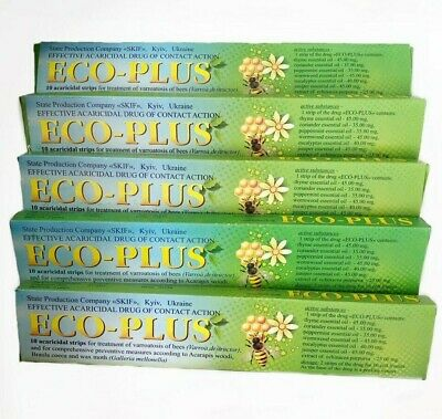 Ecopol Varroa mite killing Ecological strips with Natural component bee 5pcs