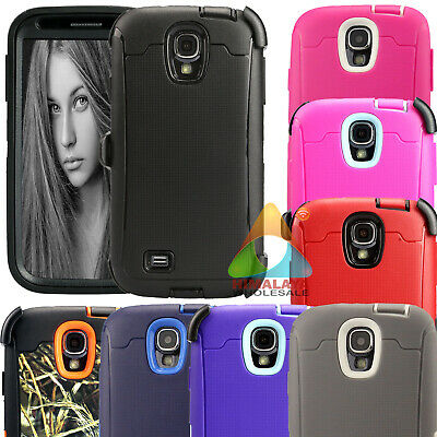 For Samsung Galaxy S4 S 4 Case (Clip fits Otterbox Defender) Screen Protector C