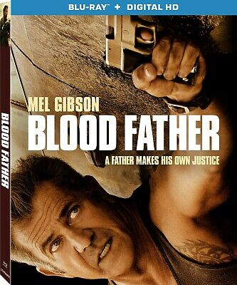 Blood Father (2016) Blu-Ray Disc + UltraViolet  Mel Gibson Action Thriller