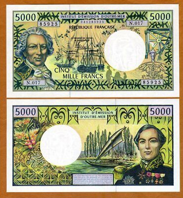 French Pacific Territories, 5000 Francs ND (1996) P-3i, UNC