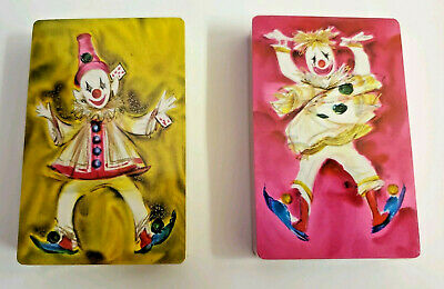 Vintage Hallmark Clowns Circus Bozo Double Deck Of Playing Cards Tax Stamps New