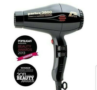 SECADOR DE PELO PARLUX 3800 IONIC&CERAMIC ECO FRIENDLY PROFESIONAL - Color Negro