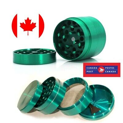 Green Zinc Alloy Tobacco Herb 4 Layers 50mm Grinder w/ Scraper