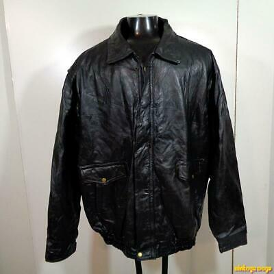 a5422ae4d NAPOLINE MEN'S BLACK Genuine Leather Bomber Motorcycle Coat Jacket ...