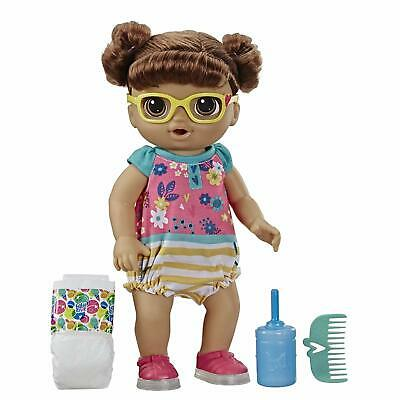 Baby Alive Step 'N Giggle Baby Brown Hair Doll with 25+ Sounds and Phrases Kid