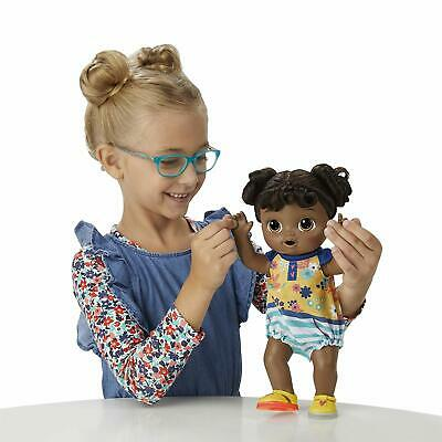 Baby Alive Step 'N Giggle Baby Black Hair Doll with 25+ Sounds and Phrases Toy
