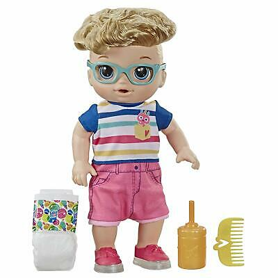 Baby Alive Step 'N Giggle Baby Blonde Hair Boy Doll with 25+ Sounds and Phrases
