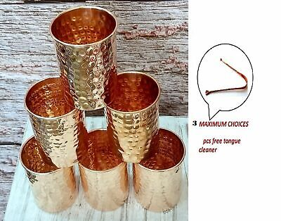 Wholsale Indian Handmade Hammered Pure Copper Glass Ayurveda Benefit Glasses