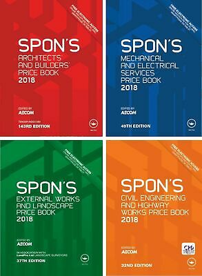 4 Spon's Books - Price Book Spons 2018 🌟 PDF High Quality 🌟 (Quick Delivery)