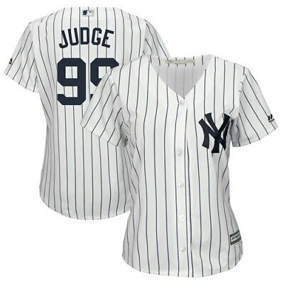 Majestic Aaron Judge New York Yankees Women's White/Navy Plus Size Home Cool